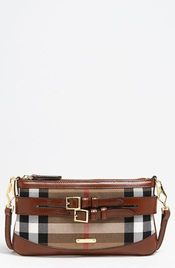 Burberry 'House Check' Crossbody Clutch available at #Nordstrom