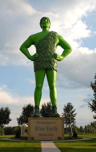 Blue Earth, Minnesota - home of the Green Giant