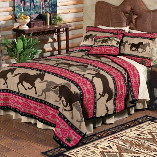 Horse Adventure Fleece Bedding