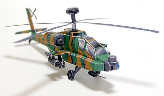 AH-64D Apache Longbow Helicopter Papercraft   My Paper Craft