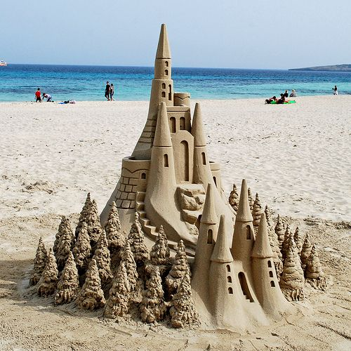 Sand Castle, Mallorca, Spain.  Where do you start to create this?