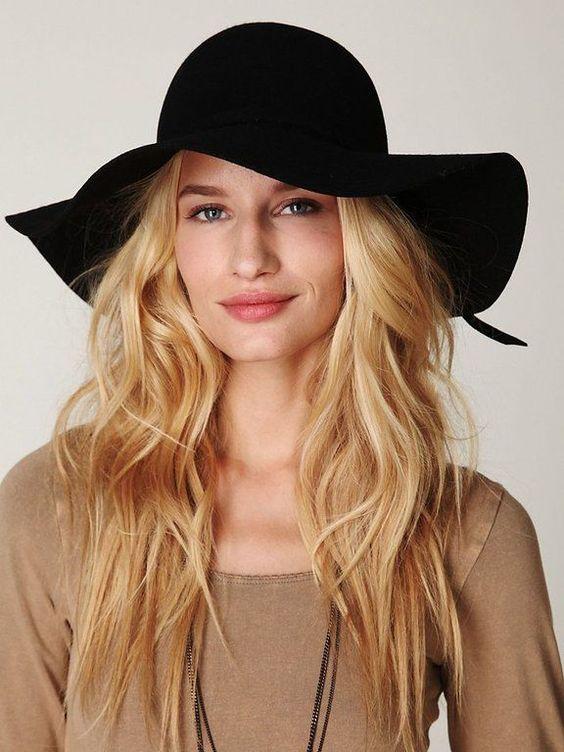 chapéu floppy preto  - 925794 | enjoei :p