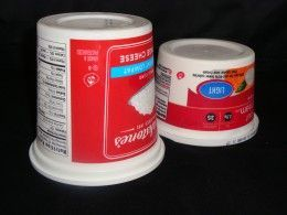 """""""Bacteria is what causes cottage cheese and sour cream to go bad. If you store them UPSIDE DOWN it creates a vacuum in the container which stifles the growth of bacteria and they last much longer""""..."""