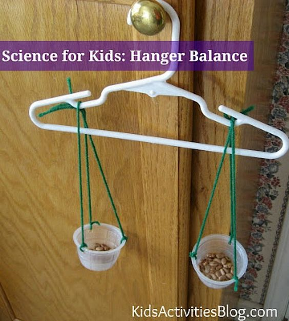 Science for Kids: Teach balance with a hanger!