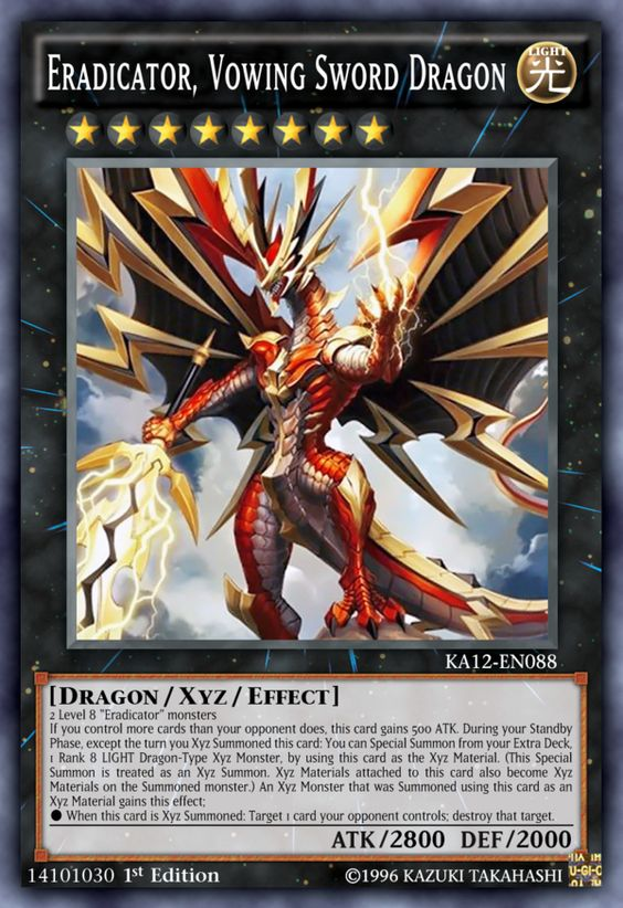 I DO NOT OWN THE ARTWORK. Zodiac Dragon Attribute: LIGHT Dragon/Xyz/Effect Rank: 7 ATK/DEF: 2900/1400 1 Level 7 Spellcaster-Type monsters + 1 or more (max. 4) Level 7 Dragon-Type monsters When this...