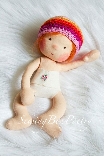 Waldorf doll Waldorf inspired Baby doll Poetry by mARTicreates