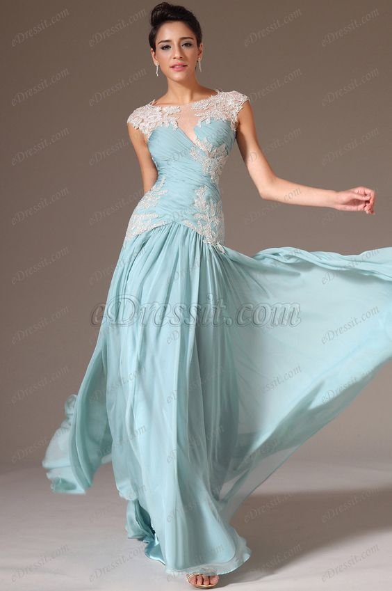 eDressit 2014 New Sheer Top Embroidered lace A-Line Prom Dress (02142704) $212