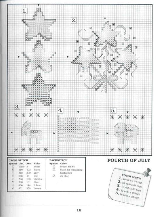 Gallery Ru Foto 15 The Big Book Of Holliday Brasileira Just Cross Stitch Cross Stitch Patriotic Cross Stitch