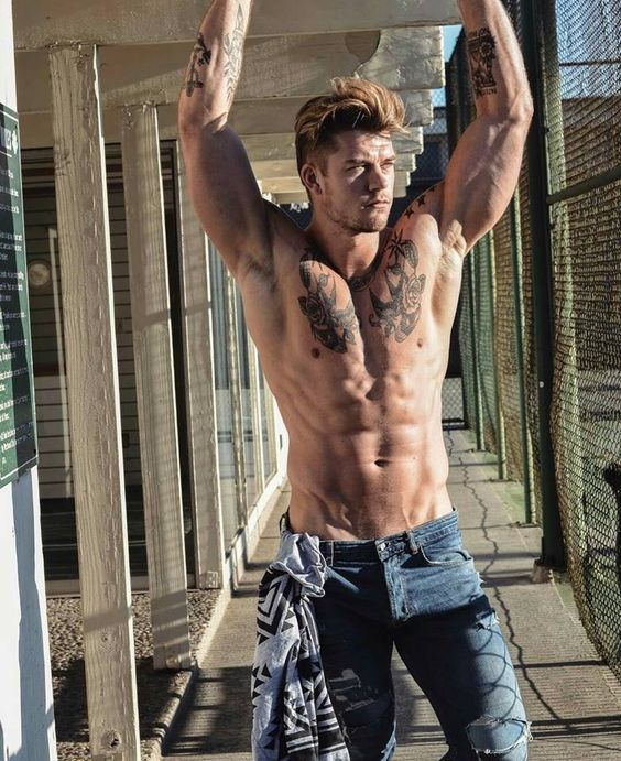 Hot Men With Tattoos with Jeffery Michael William's.: