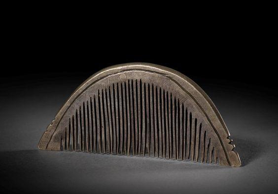 Viking silver comb.  9th-10th century AD.