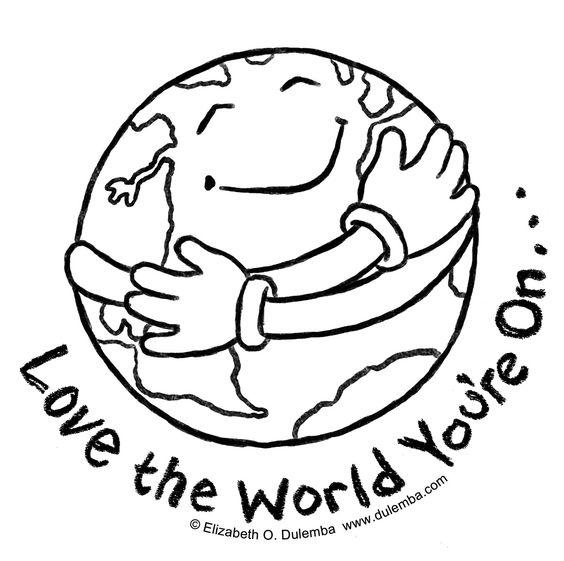 hug world coloring page
