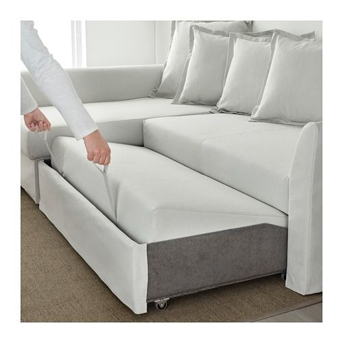 Holmsund Sleeper Sectional 3 Seat Orrsta Light White Gray Sectional Sleeper Sofa Corner Sofa Bed Sleeper Sectional