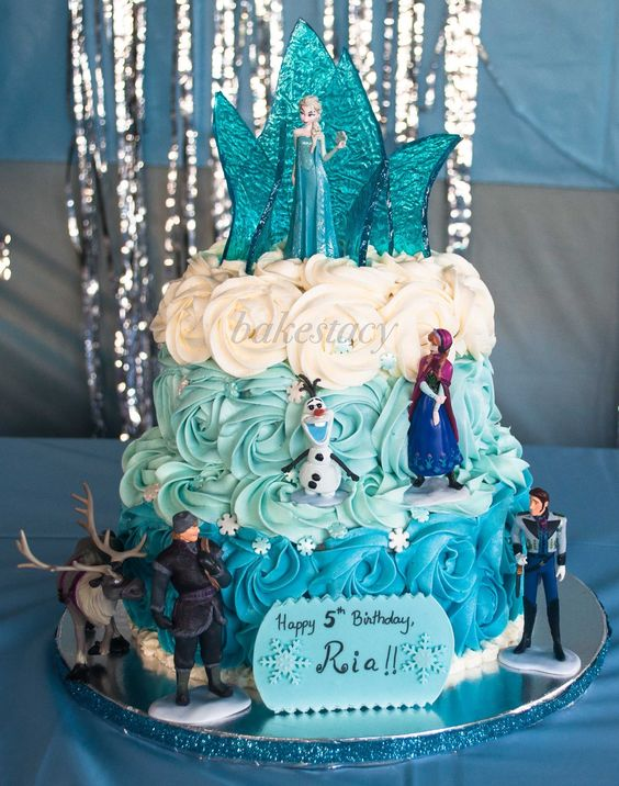 Frozen themed cake for a little girl who s a big fan of ...