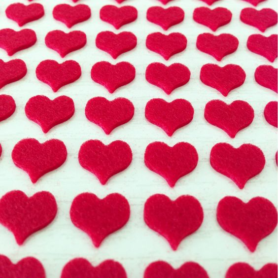 This is going to be useful. Felt Heart Stickers (red 168pcs), USD $2.84 (http://www.paperclipsss.com/felt-heart-stickers-red-168pcs/)
