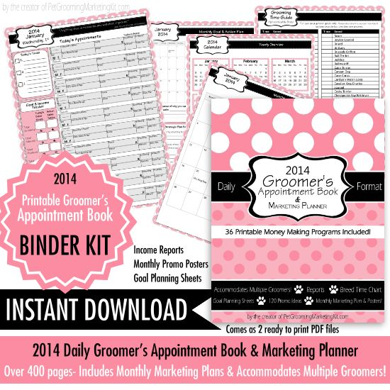 Dog Grooming Appointment Book Printable Pdf Dog Grooming Dog Grooming Shop Dog Grooming Salons