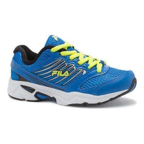 Boys' Fila Tempo Running Shoe Electric Blue Lemonade/Black/Safety