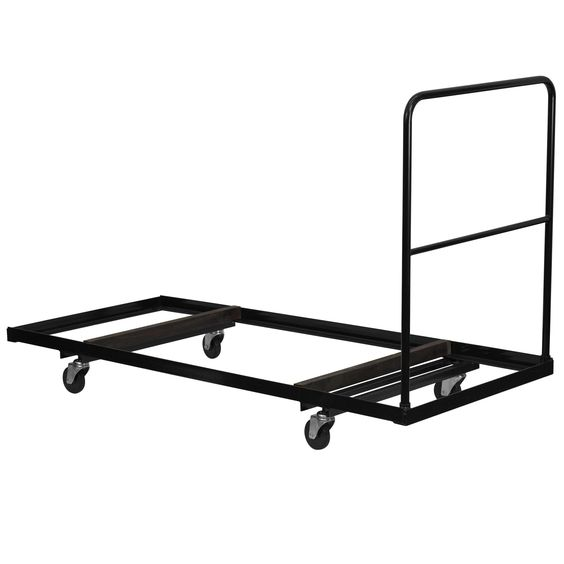 Flash Furniture Black Folding Table Dolly for 30''W x 72''D Rectangular Folding Tables [NG-DY3072-GG]