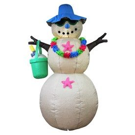 Holiday Living 6-ft x 4-ft Lighted Snowman Christmas Inflatable