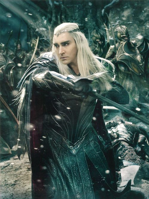 A scan from the upcoming The Hobbit:The Battle of The Five Armies annual featuring King Thranduil and part of his army in the midst of a battle.