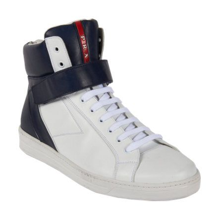 prada saffiano lux double zip tote - Prada High Top Velcro Strap Sneaker at Barneys.com $670 | Shoes ...