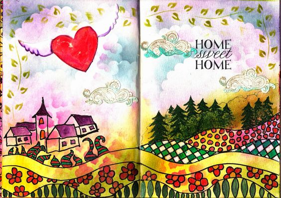 Creating is beautyful: Home sweet Home by WildeHilde