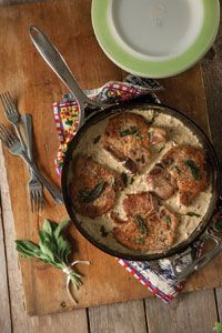 Skillet Pork Chops with Brown Butter, Gravy, and Sage