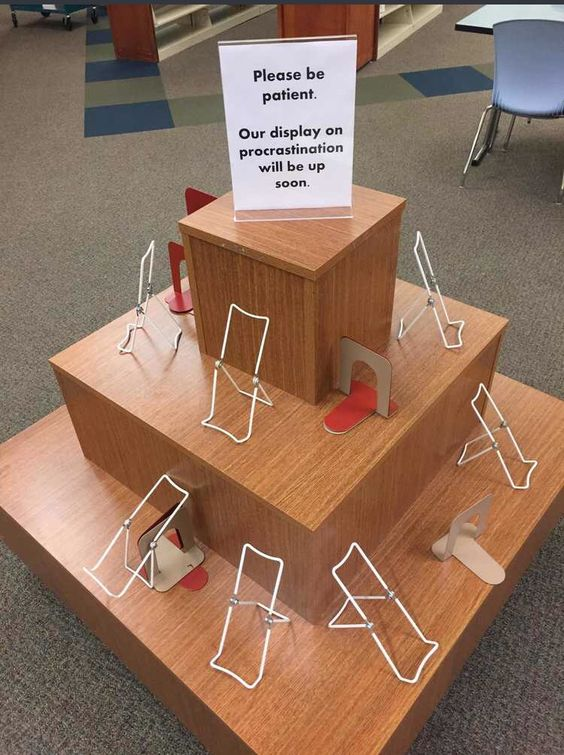 This creative library display cracks me up.