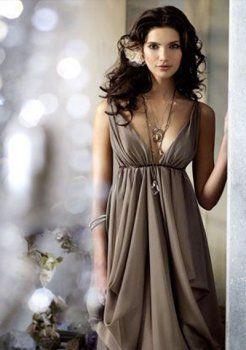 brillante empire col en V rez-longueur en mousseline de soie des robes du soir longues charmeuse