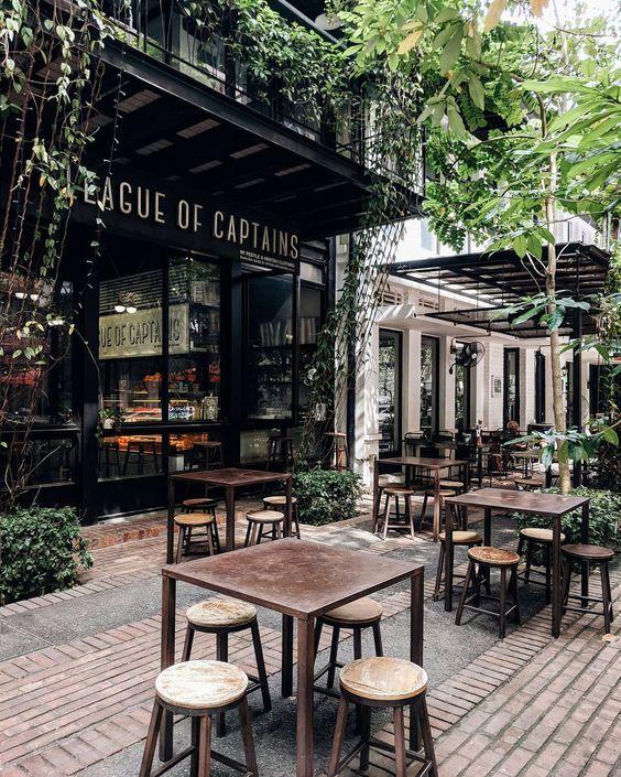 Hardscape Outdoor Patio Cafe Interior Design Rustic Coffee Shop Cafe Design