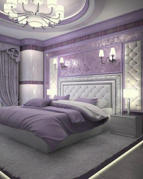 Remodels Purple Bedroom Decor Luxurious Bedrooms Purple Bedrooms Luxury purple bedroom ideas