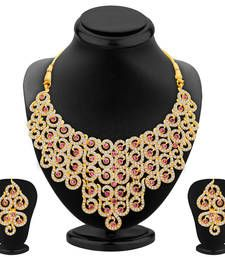 Buy Divine Gold Plated AD Necklace Set For Women Online