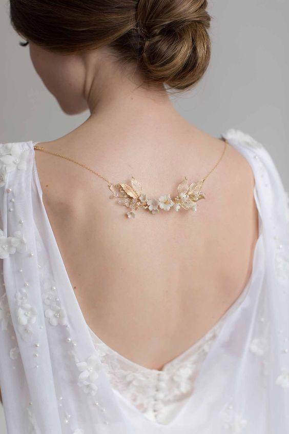 ALL ABOUT ROMANCE HERMIONE | Botanical Back Necklace