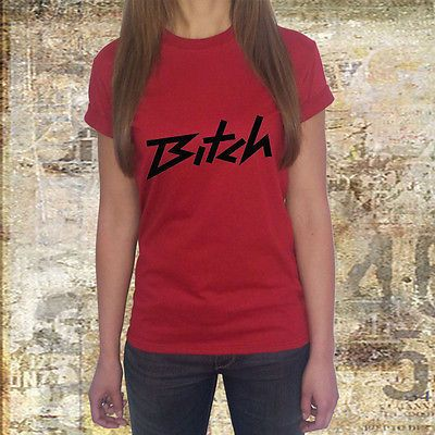 womens girl t shirt bitch slang sexy hen party female cool slogan swag dope le39