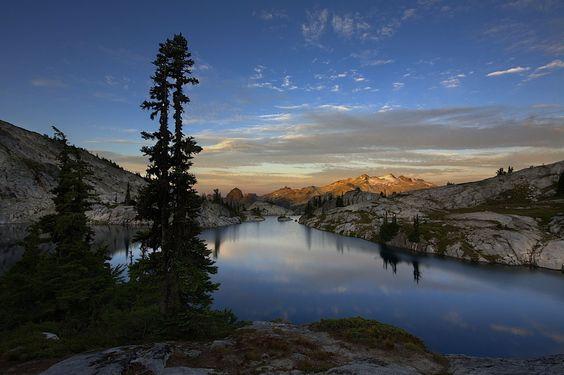 Robin Lake in de North Cascades in de staat Washington, VS