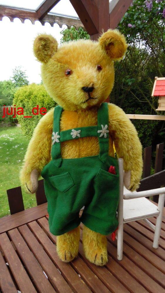 OUTSTANDING ANTIQUE PETZ TEDDY BEAR 30s **