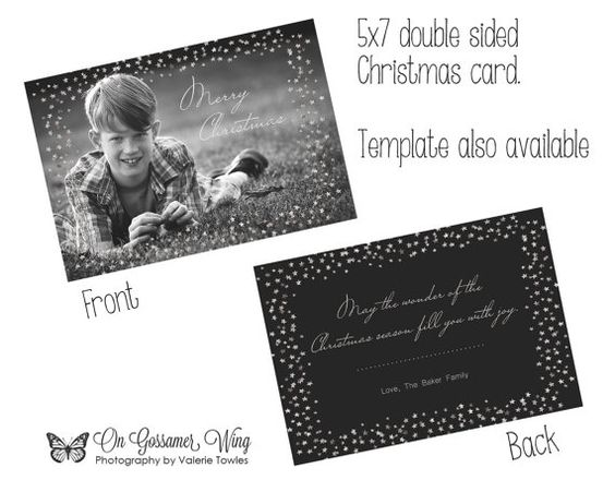 Christmas card template holiday card by gossamerwingphotos on etsy christmas card template m4hsunfo