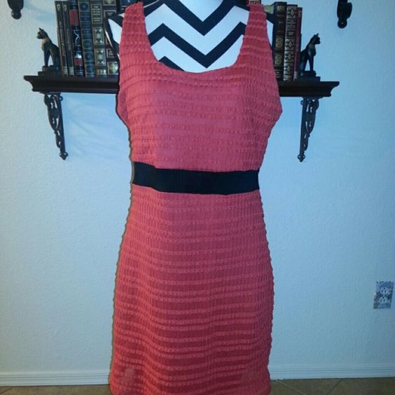 Maitai orange bodycon dress juniors plus size 1X Super cute, but it's a little too loose on me now. It's in good shape except for a couple of snags on the front (in last 2 pics) and a similar little one on the back. Hits above the knee. Fabric provides stretch.   Measures approximately 20 inches from armpit to armpit and 37 inches long.  NO TRADES, but I do give a 20% off discount on bundles :-) maitai Dresses