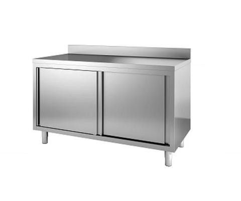Arbeitstisch Schiebeturen Aufkantung Txbxh 600x1200x850mm Arbeitstisch Schiebetur Tisch
