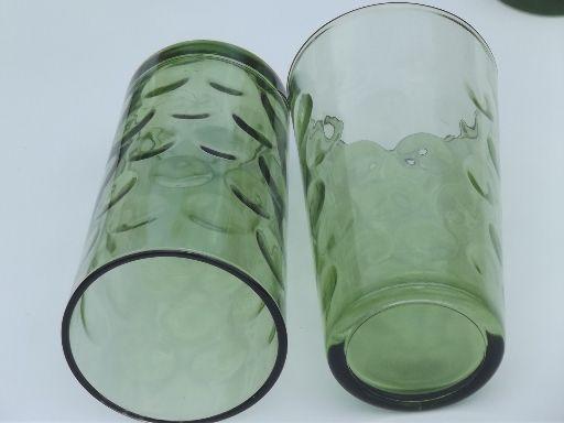 coin glass glassware | 60s mod coin spot glass tumblers, vintage El Dorado glasses in retro ...