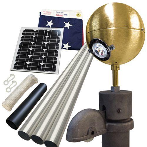 Solar Deluxe Residential Beacon Package #FlagCo #FlagpoleBeacon #FlagpoleLighting #Solar