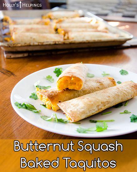 ... Vegetarian Taquitos | Recipe | Butternut Squash, Squashes and Chipotle