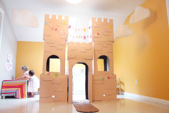 Story Book Princess Party... she used free boxes from Home Depot...just have to ask for the boxes.  :)