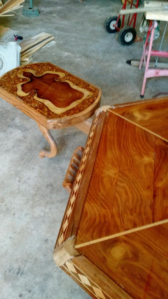 Handmade Poker table large with 3 outer by AbundantWoodCrafts