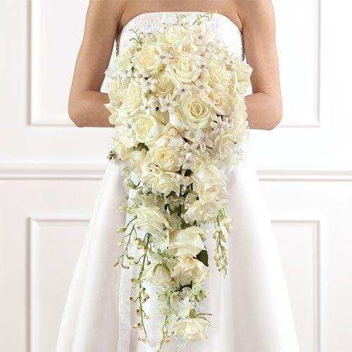 Cascading Bridal Bouquets | Deluxe Cascade Bridal Bouquet | Call Us 206-728-2588 | Seattle Flowers