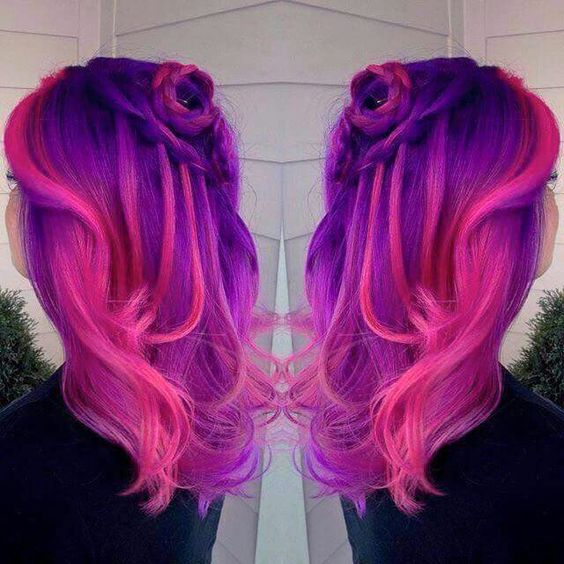 Hot Pink And Purple Hair Pinterest Pink Hot Pink