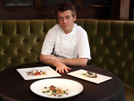 Dark side: chef Michael Wignall with black-inspired dishes
