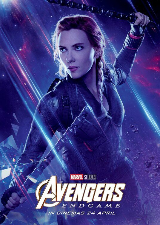 Avengers EndGame Black Widow Bruce Captain Wallpaper Poster 24 x 14 inches