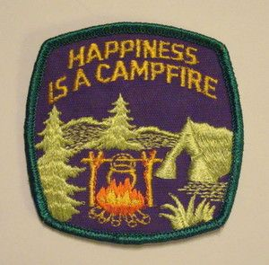 Vintage Happiness is a Campfire Embroidered Patch #KEEN #recess