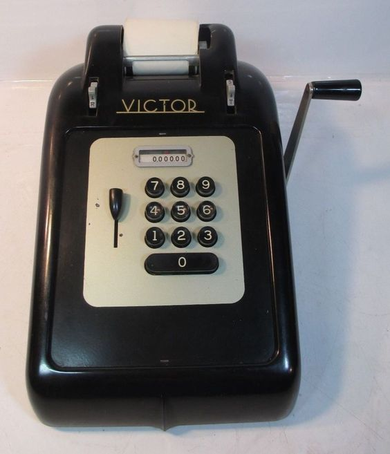 Vintage 1940 S Victor Model 7 8 0 10 Key Adding Machine Rare Great Decor Victor Cash Register Vintage Sales Vintage