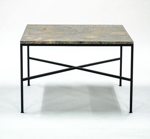 Mesa de centro con estructura de acero y sobre de m rmol for Placas de marmol medidas